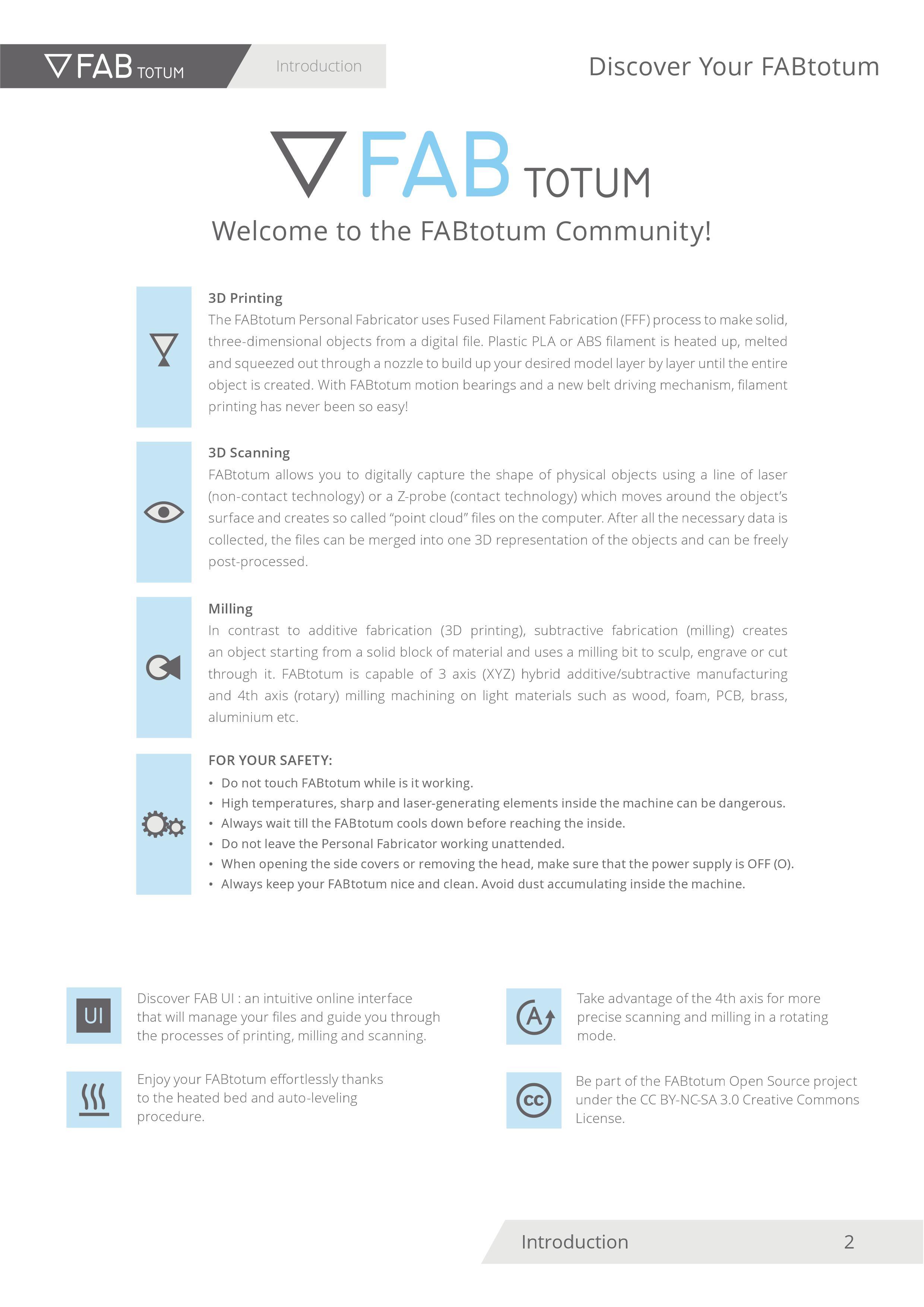 FABtotum User Manual and Interface | Aleksandra Kozawska