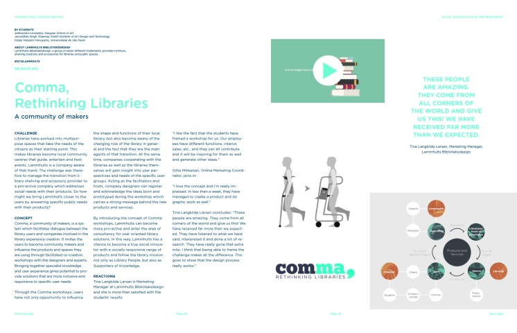 Article about Comma in a Kolding School leaflet