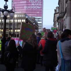 Ethnographic observation of a protest in Glasgow