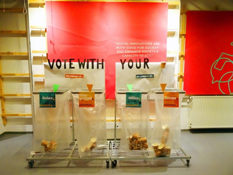 Guerilla Campaign - public voting system